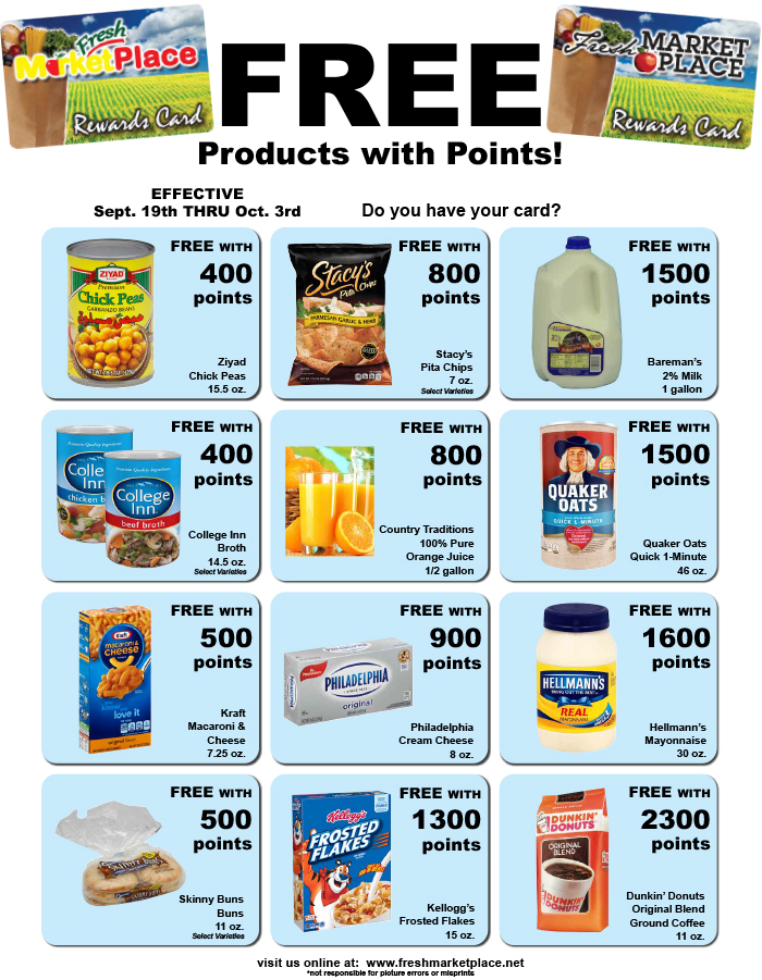 Fresh Market Place Point Specials
